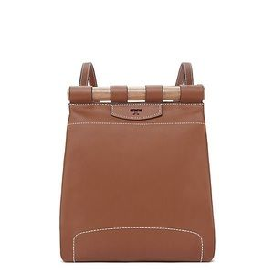 Tory Burch Cognac Leather Dowel Backpack!!!